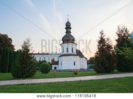 Evening View Of The Refectory Of The Monastery Of St. Michael's Golden-domed Monastery. Kiev, Ukrain