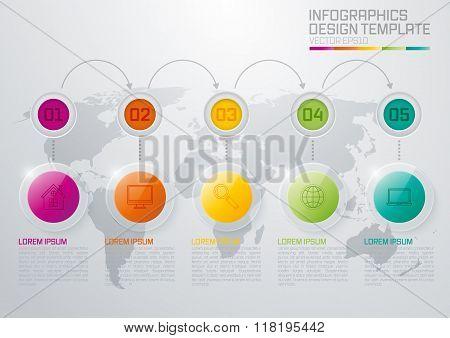 Vector illustration, infographics, glass slider.