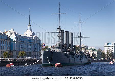 Cruiser Avrora symbol of revolution