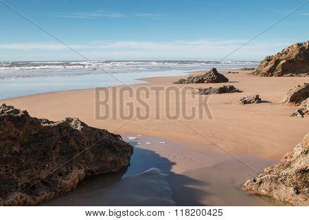 Beach On The Atlantic Ocean Coast, Morocco