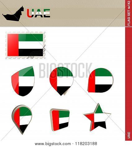 United Arab Emirates Flag Set, Flag Set #143