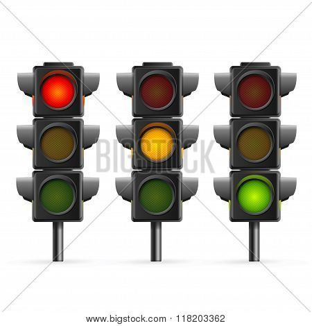 Traffic Light Sequence. Vector