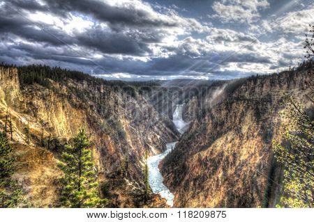 Lower Falls and Light