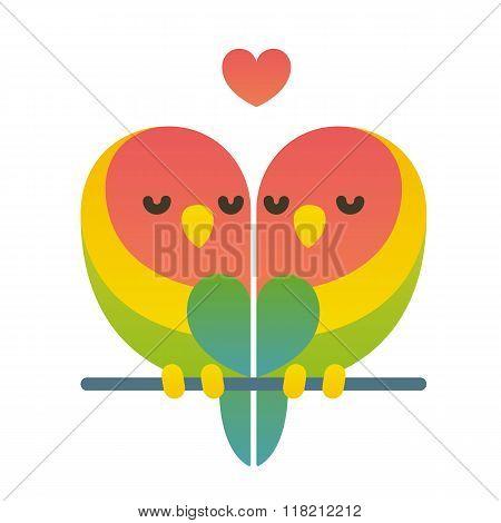 Cute Lovebird Couple