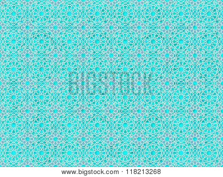 background ancient arabian blue ornament. seamless pattern. pattern generated in  computer.vector illustration