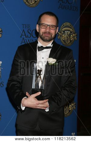 LOS ANGELES - FEB 14:  Matyas Erdely at the 2016 American Society of Cinematographers Awards at the Century Plaza Hotel on February 14, 2016 in Century City, CA