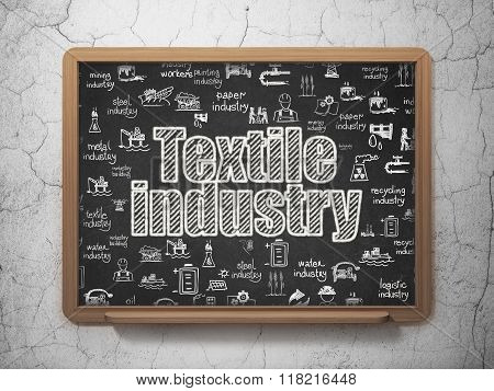 Industry concept: Textile Industry on School Board background