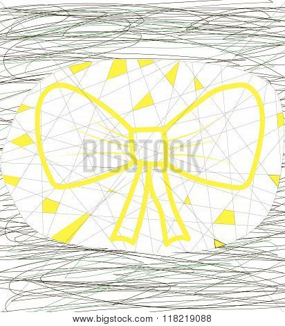 Abstract yellow bow
