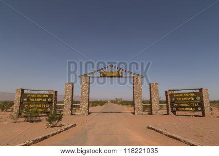Entrance to Talampaya National Park