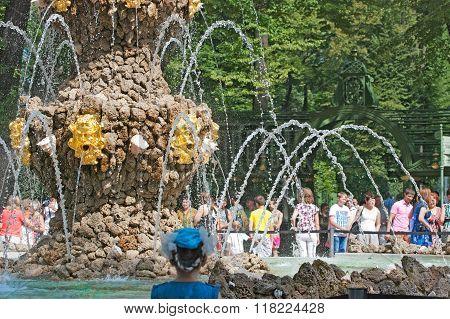 Saint-Petersburg. Russia. Crowning Fountain