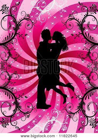 Valentine Heart Background Couple