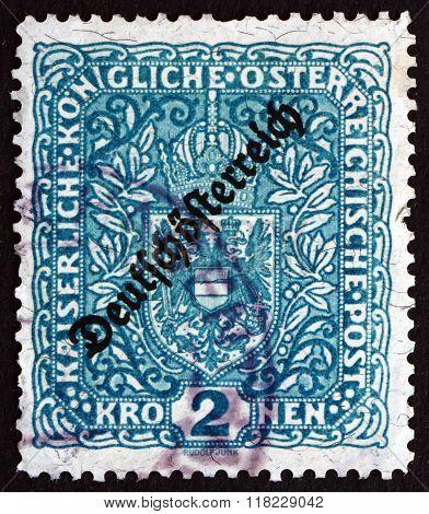 Postage Stamp Austria 1918 Coat Of Arms