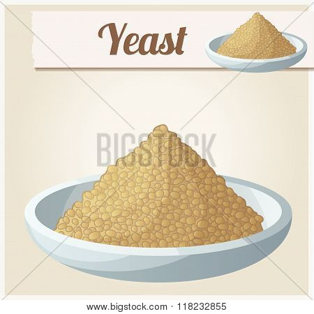 Yeast. Detailed Vector Icon