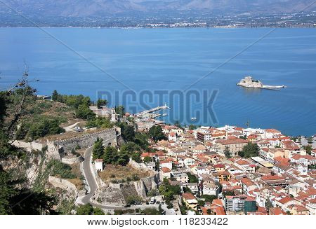 Old Fortress In Nafplion, The First Capital Of Greece (1928-1933 Biennium).