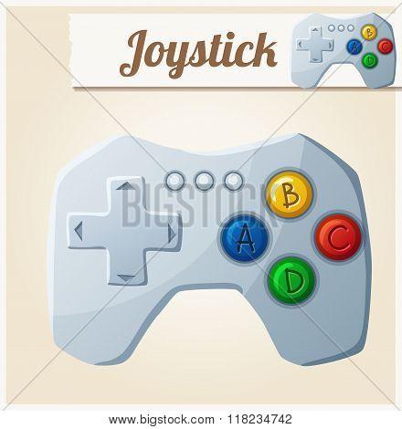Joystick. Cartoon vector illustration