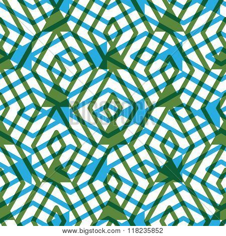 Geometric messy lined seamless pattern bright transparent vector endless background. Green decorative maze motif overlay texture.