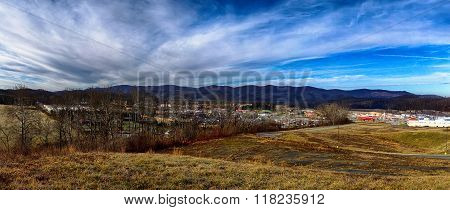 Landscapes Around Town Of Snowshoe West Virginia