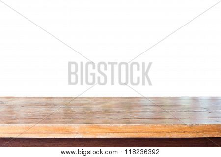 Empty Old Wooden Table Top