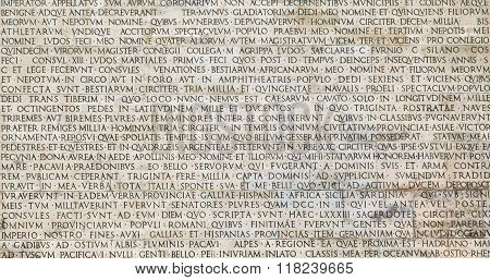Ancient Latin Inscription On Roman Wall