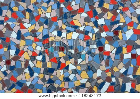 Background image with many assorted fragments of broken tiles