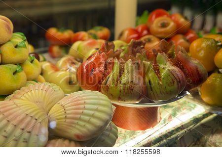 Marzipan Fruit and shells