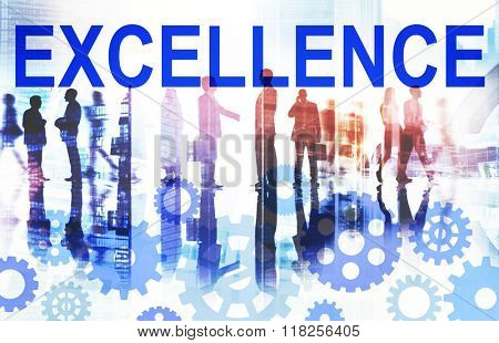 Excellence Excellent Good Intelligence Perfecetion Concept