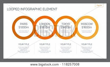Looped infographic element slide