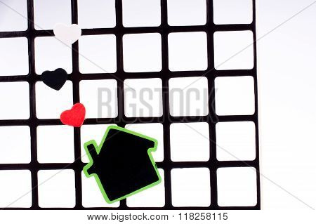 House On Grill With Hearts