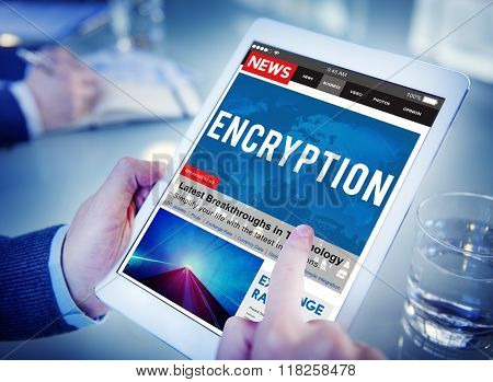Encryption Entrance Information Key Cyber Concept