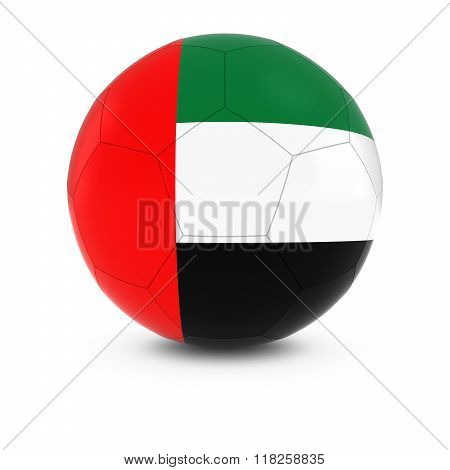 United Arab Emirates Football - Emirati Flag on Soccer Ball - 3D Illustration