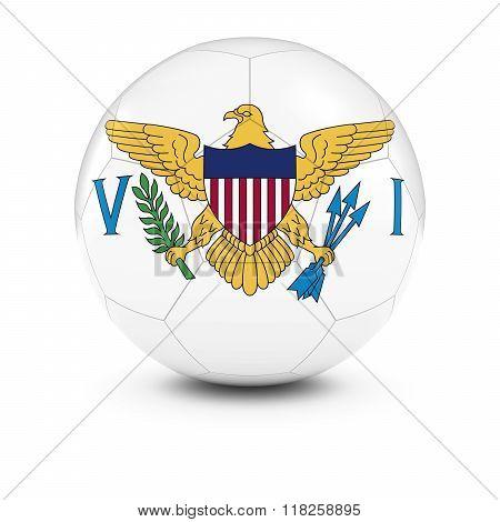 US Virgin Islands Football - Virgin Islands Flag on Soccer Ball - 3D Illustration