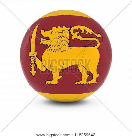 Sri Lanka Football - Sri Lankan Flag on Soccer Ball - 3D Illustration