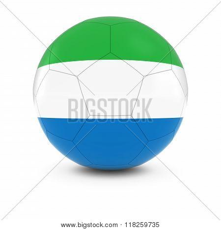 Sierra Leone Football - Sierra Leonean Flag on Soccer Ball - 3D Illustration