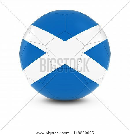 Scotland Football - Scottish Flag on Soccer Ball - 3D Illustration