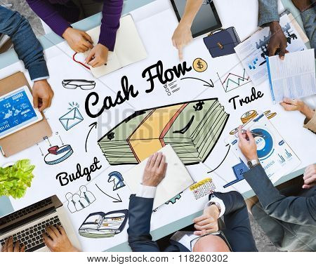 Cash Flow Economy Finance Investment Money Concept