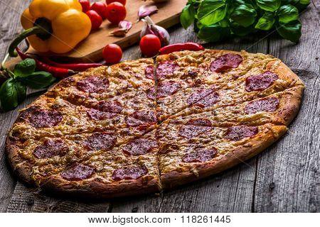 Hot Pepperoni Pizza