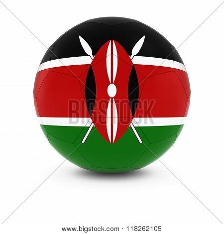 Kenya Football - Kenyan Flag on Soccer Ball - 3D Illustration