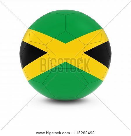 Jamaica Football - Jamaican Flag on Soccer Ball - 3D Illustration