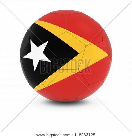East Timor Football - Timorese Flag On Soccer Ball