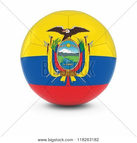 Ecuador Football - Ecuadorian Flag On Soccer Ball
