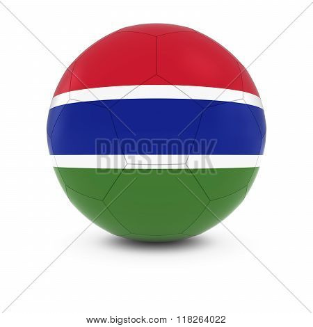 Gambia Football - Gambian Flag On Soccer Ball