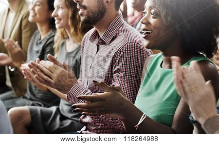 Audience Applaud Clapping Hapiness Appreciation Training Concept