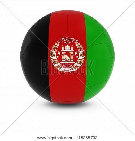 Afghanistan Football - Afghan Flag On Soccer Ball