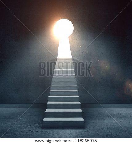 Door In Form Keyhole