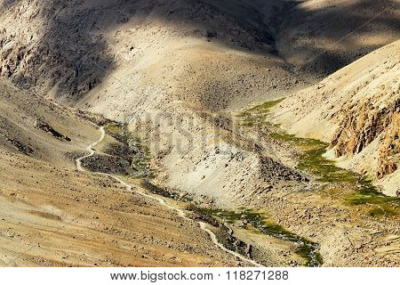 Aerial View Of Ladakh Landscape, Jammu And Kashmir, India