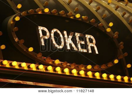 Neon poker sign