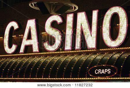 Neon casino sign
