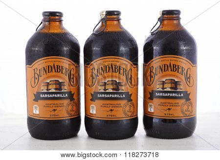 Australian Bundaberg Sarsaparilla Carbonated Soft Drink.