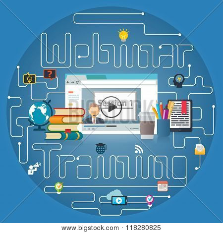 Webinar Training Online Education Background