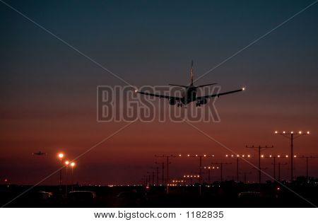 Dusk Jet Landing